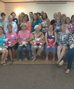 Here is the group 29 women finished 72 Safety Bears!