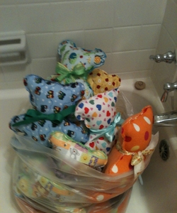 Bathtub Bears - so many we stored them here