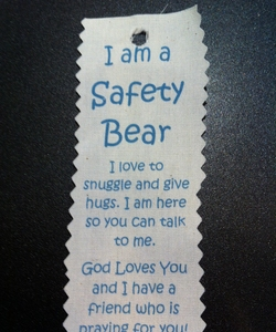 Safety Bear Hang Tag